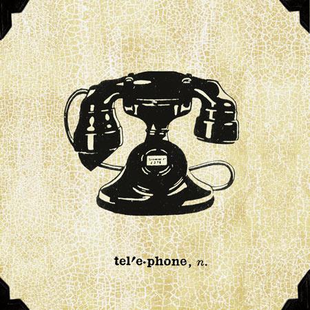 טלפון משרדיוינטג', טלפון חוגה, טלפון שחור, ישן