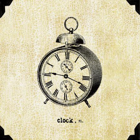 שעון משרדיוינטג', שעון, ישן, שחור, דקורטיבי