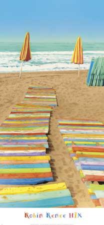 שביל כפולצבעוני, חוף, ים, חופש, שמשיות , צבעוני, מים, כיסאות, מודרני, צילום