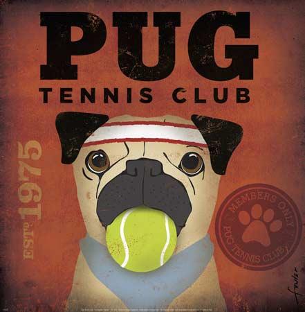 מועדון טניס פג 1975איור, כלב, וינטג'