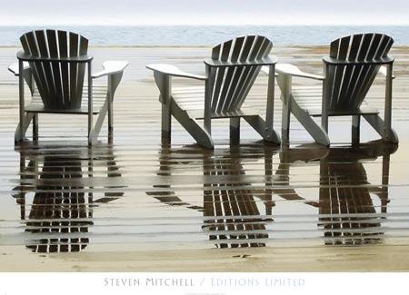 ים , כיסאות נוח, שלושה, שתיים ועוד אחד, שלווה, חופש, שחור לבן, רגוע, צילום