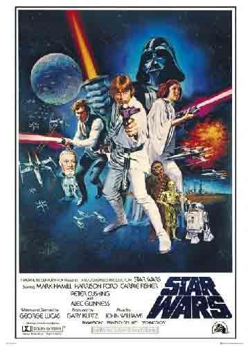 מלחמת הכוכביםStar Wars סרטי ילדים גיבור אימה קומדיה מדע בדיוני פוסטר ענק