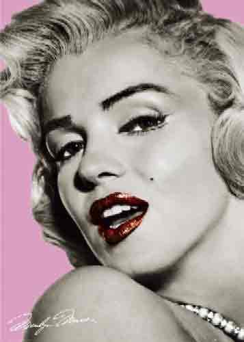 מרלין מונרוסרטים ישנים Marilyn Monroe רומנטי סקסי בחורה ורוד שחור לבן שפתיים