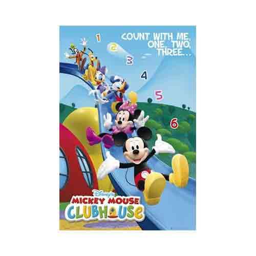 מיקי מאוסאנימציה סרטים מצוירים דיסני חדר ילדים פוסטר Micky Mouse Club House מועדון