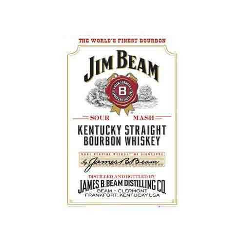 Jim Beamוויסקי בירה משקה חריף Black Label Jim Beam ג'ים בים בקבוק שתיה