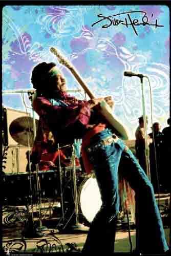 ג'ימי הנדריקס בהופעהJimi Hendrix גימי רוק גיטרה במה פופ קאסח הופעה חייה קולג'