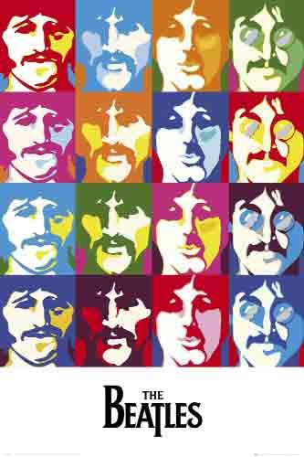 החיפושיותלהקה הופעה רוק פופ ריקוד The Beatlesחפושיות ים של צבעים אנדי וורהול פופ ארט