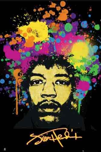 ג'ימי הנדריקס  זמר הופעה פופ סטאר כוכב  star   Jimi Hendrix Splatters