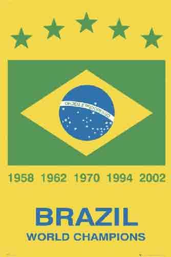 ברזיל  Brazil מועדון ספורט קבוצה כדורגל שחקנים  אליפות עולם סמל