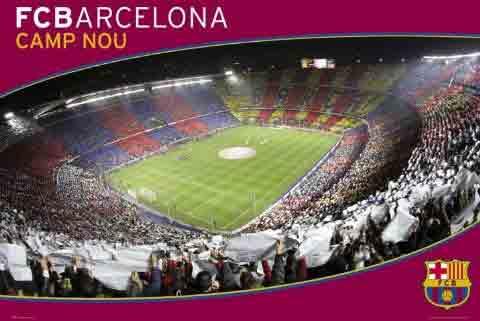 ברצלונה Barcelonaאיצטדיון ספורט קבוצה כדורגל שחקנים ברצה