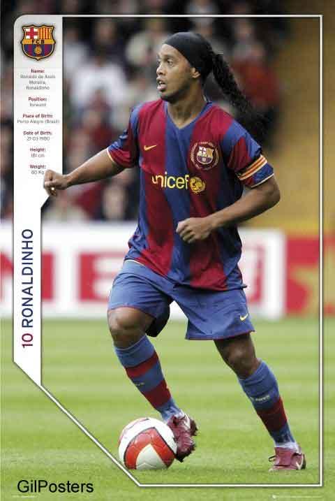 ברצלונה רונלדיניו  Barcelona Rolandinoכדורגל ברצלונה ספרד יורו ספורט אלוף אלופים גביע קבוצה שחקן