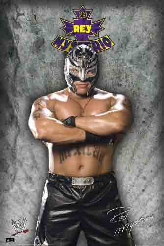 WWF - כוכבי עלאיגרוף האבקות זירה אליפות אלופים ספורט ניצחון Rey Mysterio