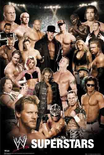 WWF - כוכבי עלאיגרוף האבקות זירה אליפות אלופים ספורט ניצחון