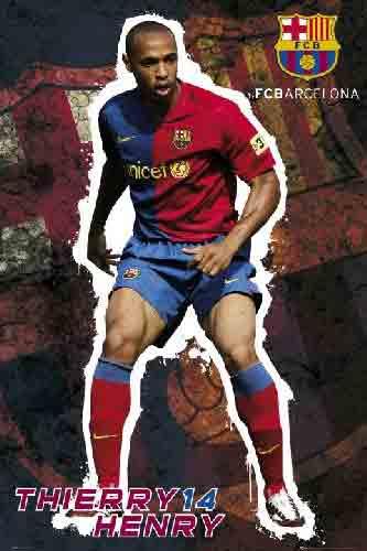 הנרי ברצלונה Barcelona Henry סמל ברצה קבוצה משחק ספורט שחקנים  Barcelona Henry ברצלונה