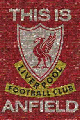 ליברפול לוגו קולאז'  Liverpoolכדורגל קבוצה אנגליה