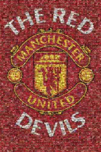 מנצ'סטר לוגו קולאז'  Manchester UnitedManchester United מנצ'סטר יונייטד כדורגל אנגליה השדים האדומים