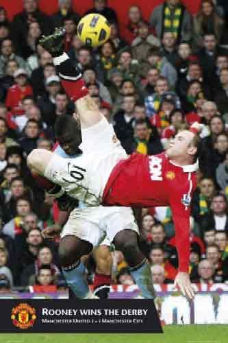 רוני ויין  Rooney  Manchester Unitedכדורגל מנצ'סטר יונייטד חלוץ דרבי