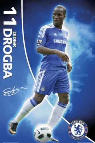 דרוגבה דידייה  Drogba Chelseaחלוץ צ'לסי כדורגל