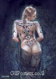 רויו - קעקועגב טוסיק תחת בחורה סקסית אישה דמיונית