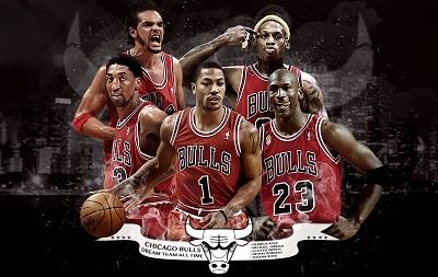 Chicago Bulls נבחרת החלומות של כל הזמנים - תמונה על קנבס,מוכנה לתליה.Chicago Bulls נבחרת החלומות של כל הזמנים