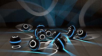 כדורים צבעוניםכדורים צבעונים  digital-art-ball   3d