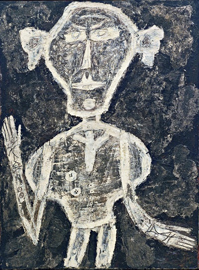 ז'אן דובופה - דיוקן של אנרי מישו   Jean Dubuffet - Portrait of Henri Michauxז'אן דובופה - דיוקן של אנרי מישו   Jean Dubuffet - Portrait of Henri Michaux