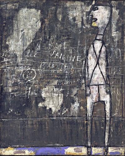 ז'אן דובופה - קיר עם הקדשות  Jean Dubuffet - Wall with Inscriptions ז'אן דובופה - קיר עם הקדשות  Jean Dubuffet - Wall with Inscriptions