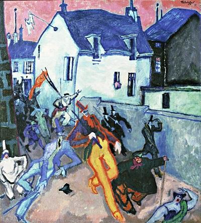 Lyonel Feininger - Uprising-Lyonel Feininger - Uprising