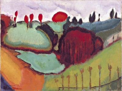 מרסל דושאן - נוף Marcel Duchamp - Landscape מרסל דושאן - נוף -Marcel Duchamp - Landscape
