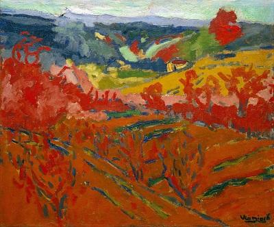Maurice de Vlaminck - Autumn Landscap-Maurice de Vlaminck - Autumn Landscap