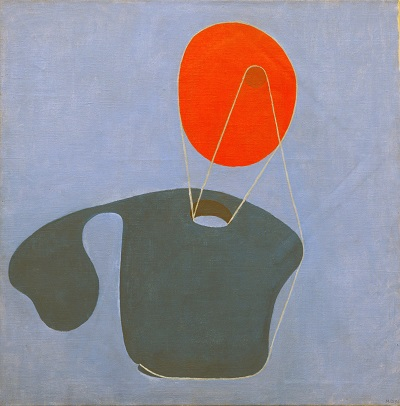 Meret Oppenheim - Red Head, Blue BodyMeret Oppenheim - Red Head, Blue Body