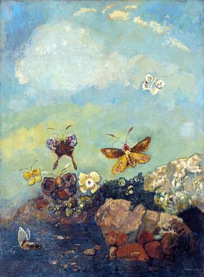 Odilon Redon - Butterflies-Odilon Redon - Butterflies