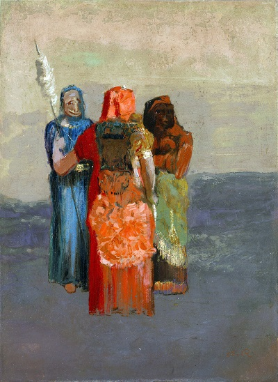Odilon Redon - The Three Fates-Odilon Redon - The Three Fates