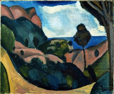 Andre Derain - Landscape near CassisAndre Derain - Landscape near Cassis