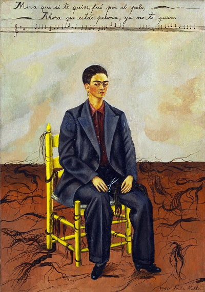 Frida Kahlo - Self-Portrait with Cropped Hair-Frida Kahlo - Self-Portrait with Cropped Hair