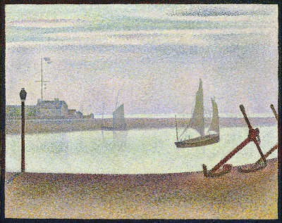 Georges-Pierre Seurat - The Channel at Gravelines, Evening Georges-Pierre Seurat - The Channel at Gravelines, Evening