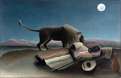 Henri Rousseau - The Sleeping Gypsy-Henri Rousseau - The Sleeping Gypsy