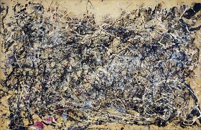 Jackson Pollock - Number 1Aגקסון פולוק תמונות ציורים של -Jackson Pollock - Number 1A