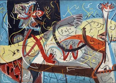 Jackson Pollock - Stenographic FigureJackson Pollock - Stenographic Figure