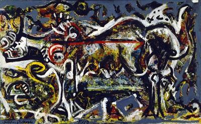 Jackson Pollock - The She-Wolfגקסון פולוק תמונות ציורים של Jackson Pollock - The She-Wolf