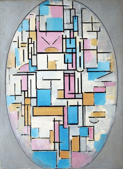 Piet Mondrian - Composition in Oval with Color PlanesPiet Mondrian - Composition in Oval with Color Planes