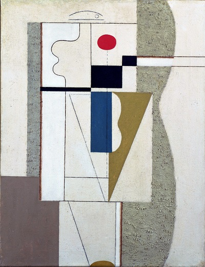 Willi Baumeister - Figurate with Red EllipseWilli Baumeister - Figurate with Red Ellipse