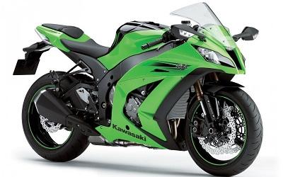 kawasaki ninja  motorbike green kawasaki ninja