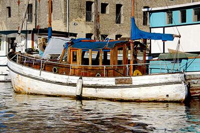 קופנהגן - דנמ רק סירות  סירה  מעץ