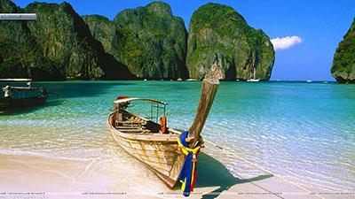 סירה וחוף - תאילנדסירה  - תאילנד