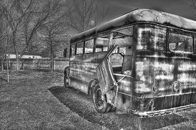 school bus  אוטובוס ישן school bus
