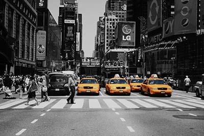 ניו יורק   New York City  מוניות צהובות,ניו יורק   New York City