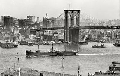 ניו יורק   New York Cityגשר _New_York_circa_1908._Brooklyn_Bridge_and_Manhattan