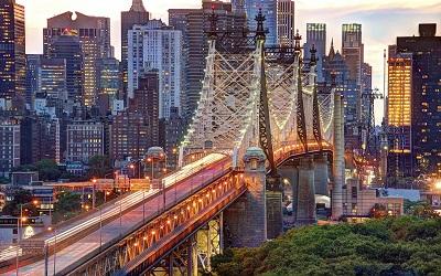 מנהטן  ניו יורק  Manhattan Queensboro Bridgeמנהטן  ניו יורק  Manhattan Queensboro Bridge