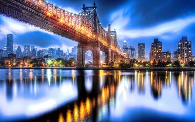 ניו יורק   Queensboro Bridge Night   New York  ניו יורק   Queensboro Bridge Night   New York     גשר